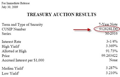 3-Treasury Auction Results - July 30, 2009